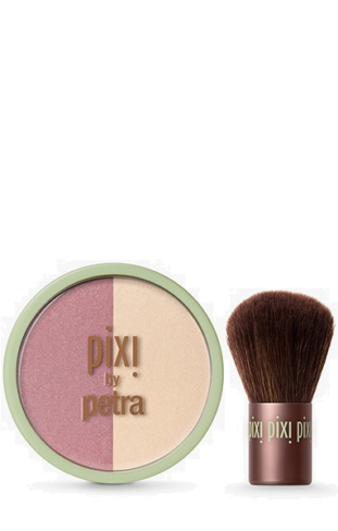 Pixi blush duo kabuki rose\gold
