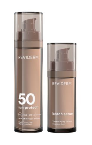 Reviderm moist age control spf 50 + beach serum